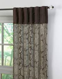 traditional damask lace inverted pleat panel chocolate
