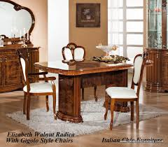 table and 6 chair set elizabeth rectangular dining table and 6 chair set walnut radica