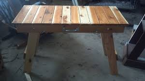 Folding Wood Picnic Table Plans by Folding Cedar Table Wood Magazine By Cbsativa Lumberjocks