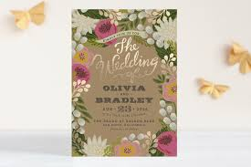 garden wedding invitations the prettiest gold foil floral wedding invitation invites