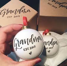 grandparent christmas ornaments best 25 christmas gender reveal ideas on christmas