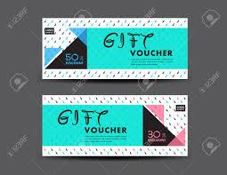 green gift voucher vector illustration blue discount voucher template coupon design ticket gift voucher