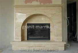 Travertine Fireplace Hearth - medium beige travertine fireplace from poland stonecontact com