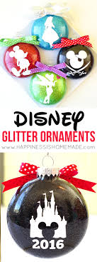 disney glitter ornaments happiness is