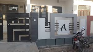 Modern Boundary Wall Designs With Gate Also Front Houses Gallery Home Tile Including Wondrous New Design In Kerala