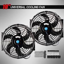 10 inch radiator fan 2x 10 inch universal slim fan push pull electric radiator