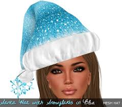 blue santa hat second marketplace rockcandy santa hat w snowflakes