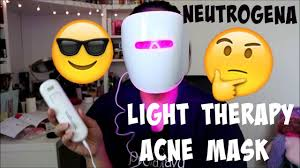 does neutrogena light therapy acne mask work neutrogena light therapy acne mask youtube