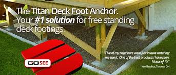titan deck foot ground anchored deck footings in a minute at decksgo