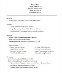 Ece Sample Resume by 51 Teacher Resume Templates U2013 Free Sample Example Format