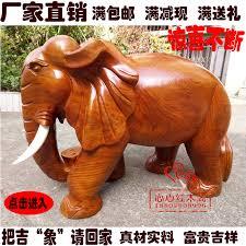 usd 18 54 solid wood elephant ornaments lucky mahogany elephant