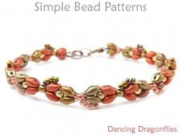 beaded beads necklace images Beaded dragonfly bracelet superduo 2 hole beads jewelry making pattern jpg