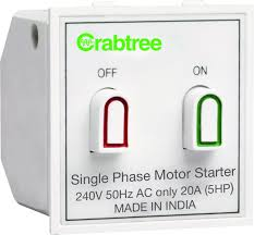 havells crabtree athena 20a motor starter switch amazon in home