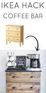 ikea tarva hack and coffee bar essentials modern farmhouse style