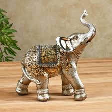 bejeweled mosaic elephant figurines for home decoration ideas