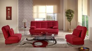 Oval Sofa Bed Vegas Rainbow Red Convertible Sofa Bed By Sunset
