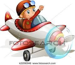aereo clipart clip uno vendemmia aereo con uno pilota k22090946