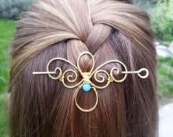 hair slide metal hair barrette treble clef hair clip gold hair slide