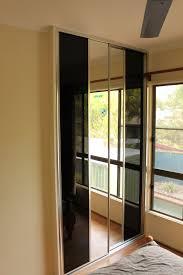 Home Decor Innovations Sliding Mirror Doors White Glass Black Frame Mirror Wardrobe Sliding Doors In Built