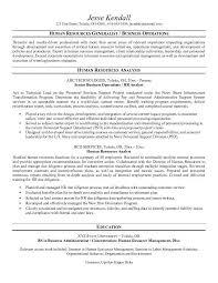 Hr Generalist Sample Resume by Sample Hr Resume Template Billybullock Us