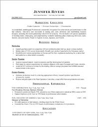 standard resume format resume format