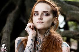 Suicide Girl Annalee - suicide girls tattoo redhead piercing wallpaper and background