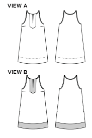 pattern a line shift dress colfax dress sewing pattern by true bias