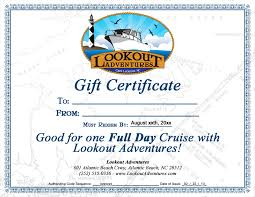Fishing Gift Certificate Template purchase gift certificates charter boat boat rental