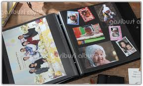 photo album sticky pages crocodile pattern leather album of black sheet self adhesive from