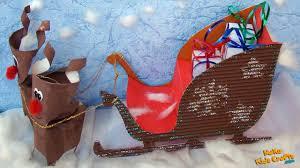 How to make a Santa Sleigh Christmas decorations DIY