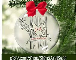 Christmas Ornaments With Initials Initials Carved Etsy