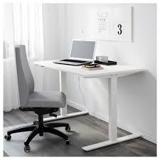 Computer Desk Stand Skarsta Desk Sit Stand White 120x70 Cm Ikea