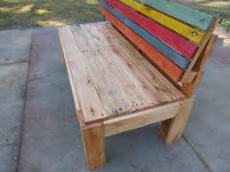 Outdoor Benche - pallet outdoor bench with a comfort back pallets bench and
