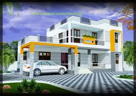 Home Design 2000 Sq Ft 2000 Sq Ft 3 Bhk Modern House Design