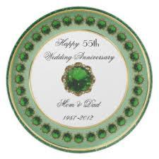 55th wedding anniversary custom wedding anniversary plates