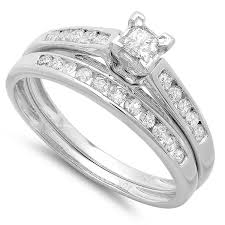 wedding ring sets cheap cheap diamond bridal ring set 1 carat diamond on 10k gold