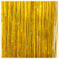 500ct gold tinsel icicle christmas garland strands 18