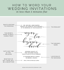 wedding invitation sle wording how to write your wedding invitation message pipkin paper company