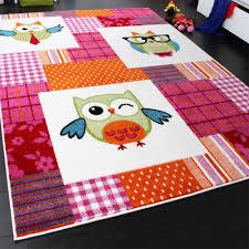 tapis chambre d enfants tapis chambre d enfant moderne chouette à carreaux multicolore