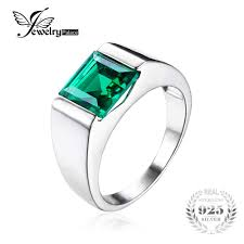 aliexpress buy real brand italina rings for men hot jewelrypalace nano russian green created emerald ring for men