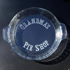 personalized pie plate custom pie plate personalized with etching buy