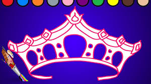 crown coloring page learn colors for children youtube