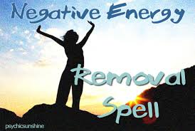 cast a powerful spell to remove negative energy and replace it