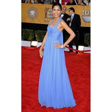 pinto light blue halter prom dress 2009 sag awards red carpet