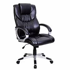 goplus new pu leather high back office chair executive task ergonomic computer gaming chairs home office