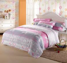 amazing girls bedroom design with grey pink reversible comforter