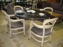 Kitchen Table With Wheels by Furniture Brown Leather Kitchen Chairs With Wheels Having Dark
