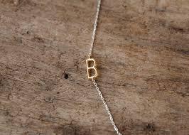 gold monogram initial necklace sideways initial necklace initial necklace monogram