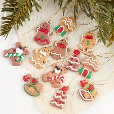gingerbread ornaments miniature gingerbread ornaments christmas miniatures christmas