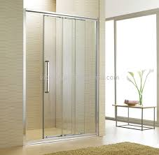 one fixed two movable shower glass door sliding shower screen non